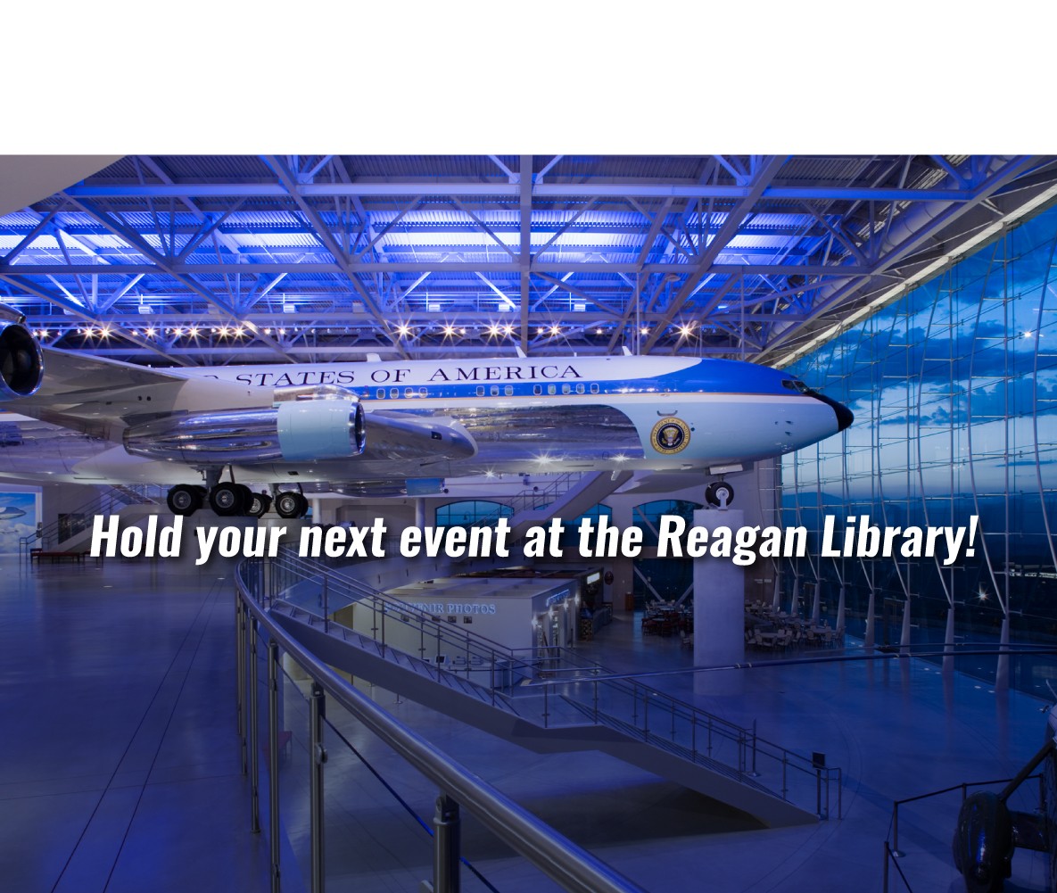 carousel Image - Hold your next event at the Reagan Library