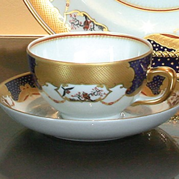 Mottahedeh Golden Butterfly Cup & Saucer