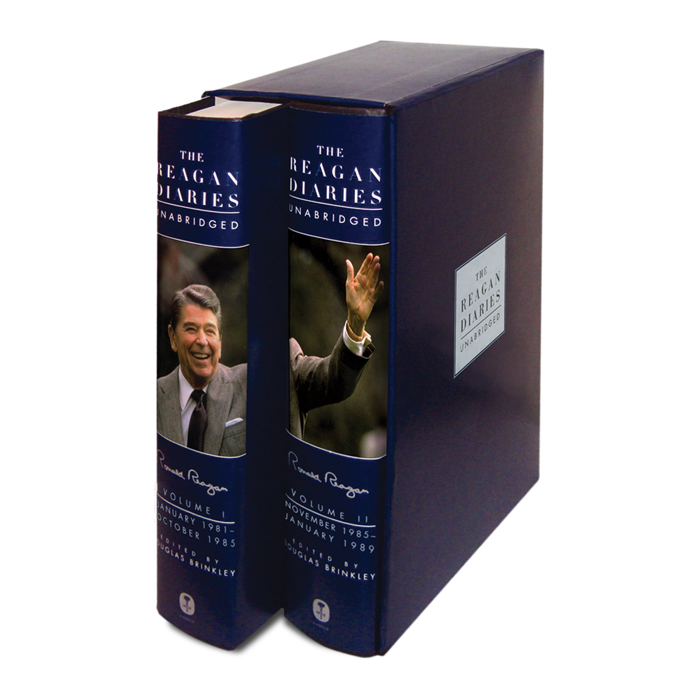 Reagan Diaries-Unabridged 2 Vol Set with Ronald Reagan Signature