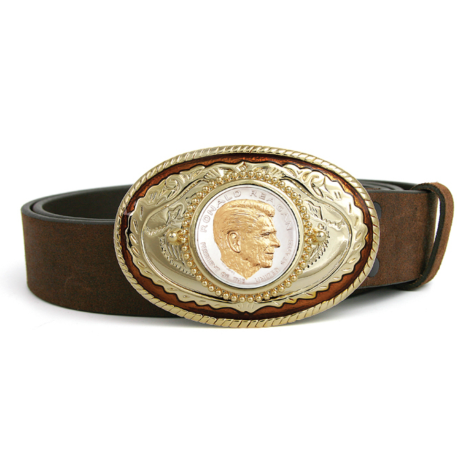 Ronald Reagan Medallion Belt Buckle
