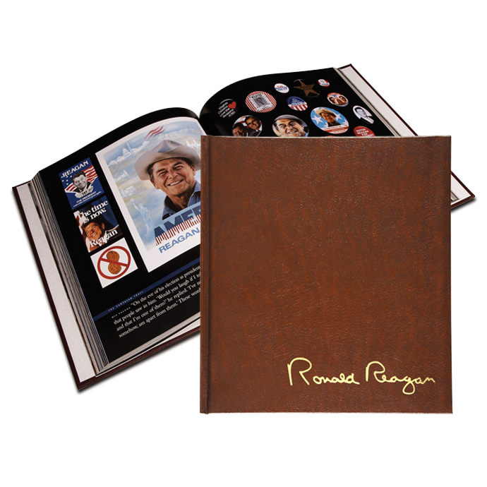 Ronald Reagan: An American Hero Leather Bound