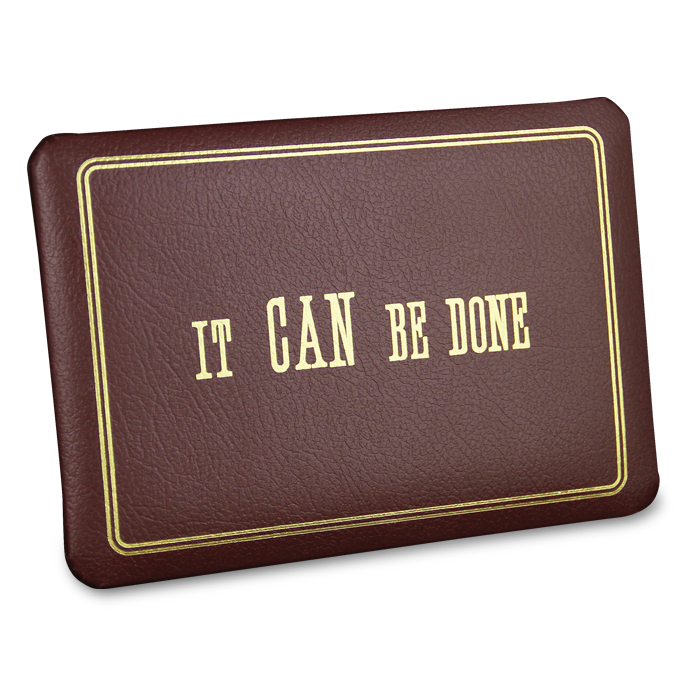 """It Can Be Done"" Desk Plaque"