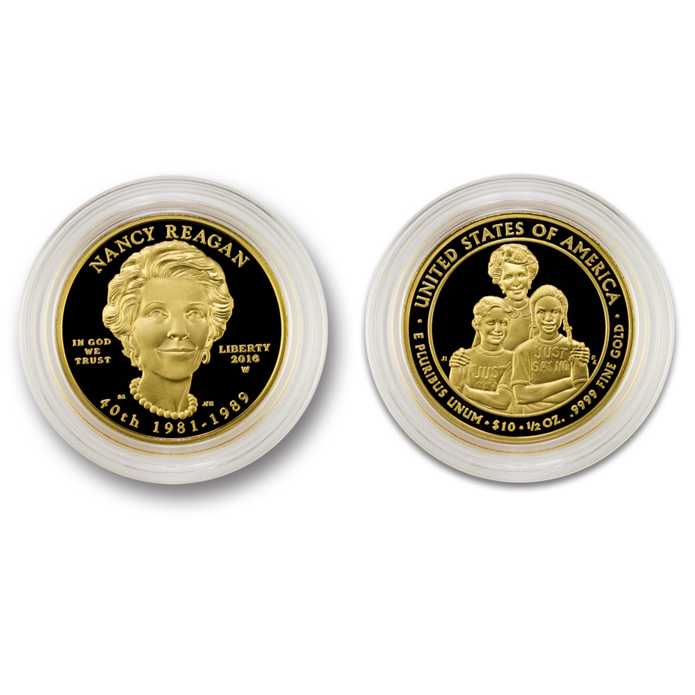 Nancy Reagan Gold Proof Coin