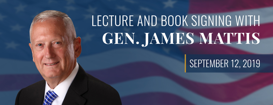carousel Image - Lecture and Book Signing with Secretary James Mattis