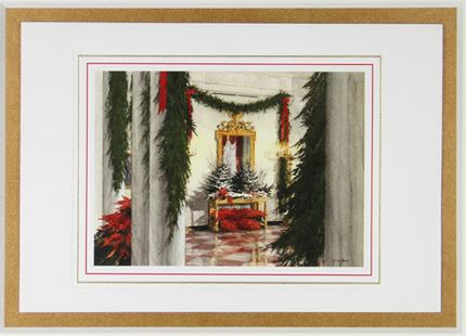 1988 - North Entry Hall at Christmas - The White House