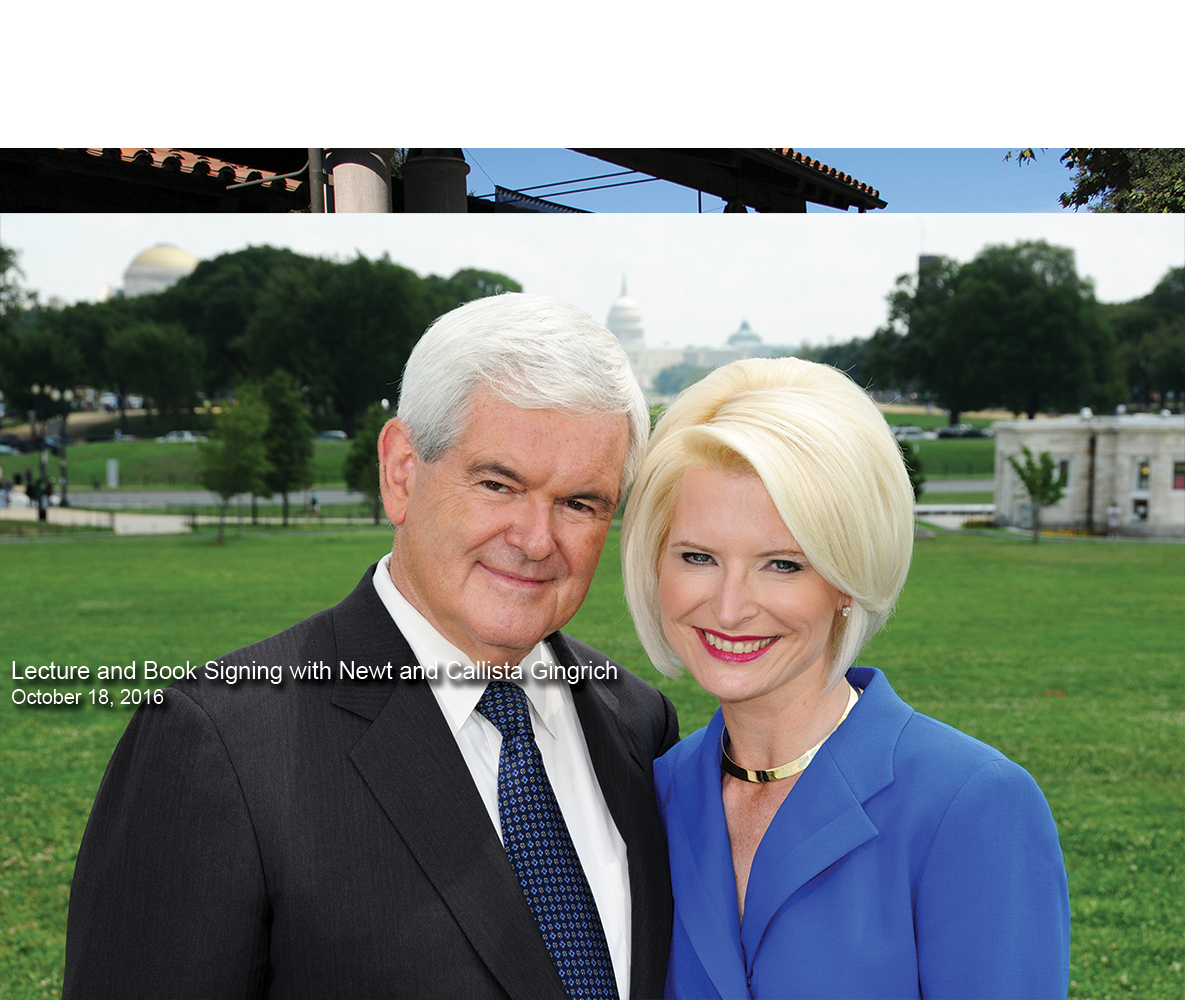 carousel Image - Lecture and Book Signing with Newt and Callista Gingrich